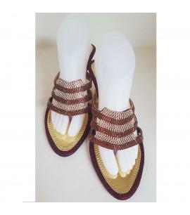 Maroon Slipper Heel Shoes
