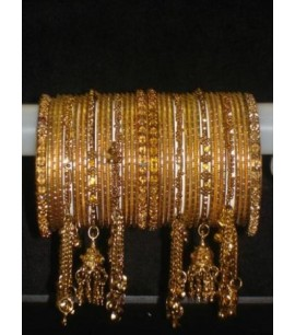 Bangles in a set with dangly bells