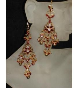 Costume Gold Dangly Earrings
