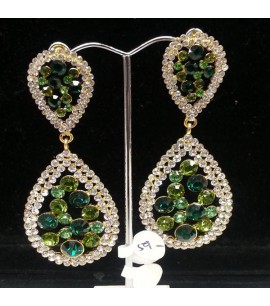 Tear drop Earrings with Crystals