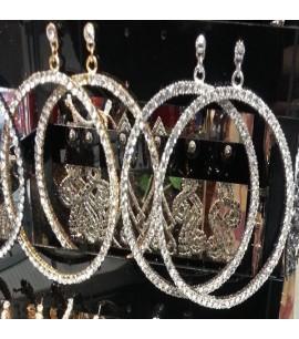 Studed type hoop Earrings