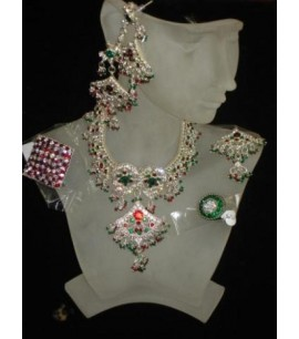 Necklace Set - with multi coloured stones