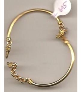 22ct Gold Adjustable Pipe Bangle