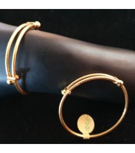 GJBN015-22ct Gold Baby Bangle