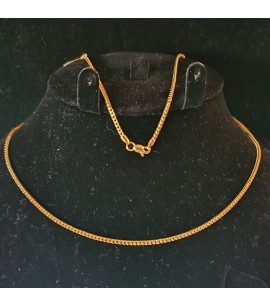 GJC013-22ct Gold Spiga design chain