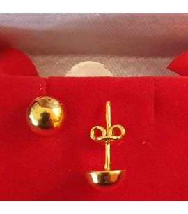 GJES026-22ct Gold Plain Earring studs