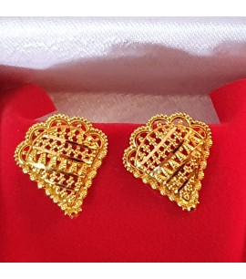 GJES029-22ct Gold hand-crafted Ear Studs