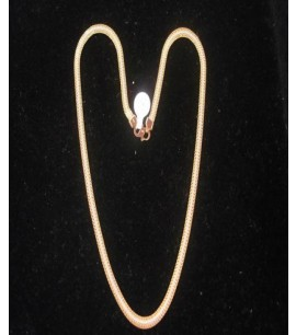 Flat Necklace with Rodium
