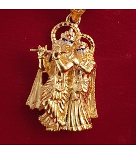 GJP037-22ct Gold Radha Krishna Pendant