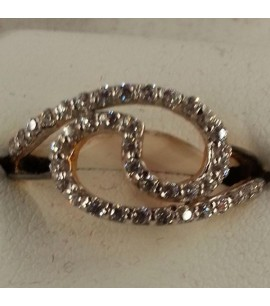 Fancy Ring with Rodium and CZs