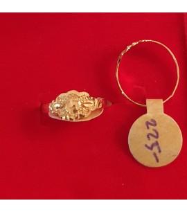 GJR032-22ct Gold Baby Ring