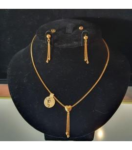 GJS020-22ct Gold Necklace set
