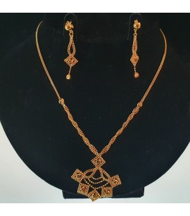 GJS024-22ct Gold Necklace set