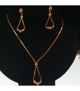 GJS025-22ct Gold Necklace set