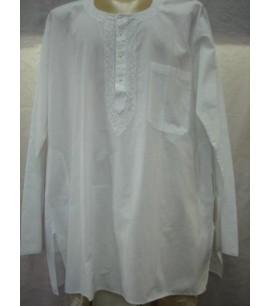 Plain White Kurta-MKC008