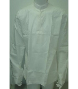 White Nehru Collar Shirt