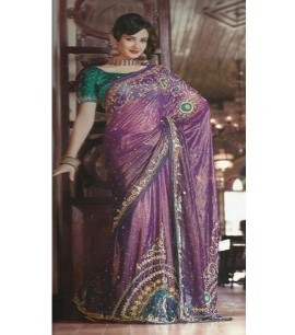 Shimmer Purple embroided