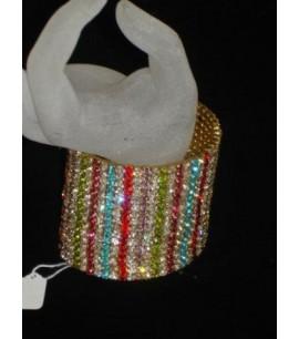wide Bangle Bracelet with CZs