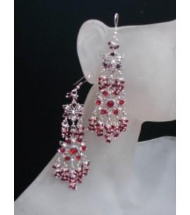 Costume Silver Dangly Earrings