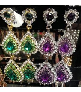 Long Tear-drop Dangly Earrings
