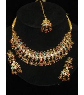 Multi coloured Choker Necklace