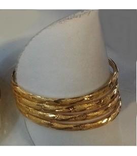 Set of 4 high polished bangles