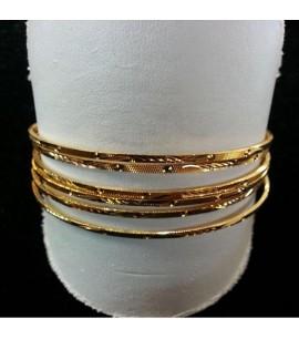 Set of 6, 22ct Gold Bangles