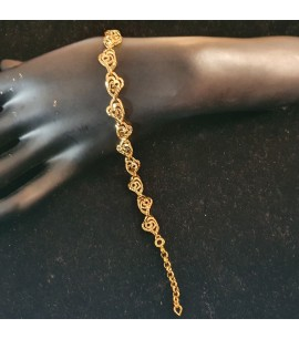 GJBR024-22ct Gold Bracelet - Filigree design