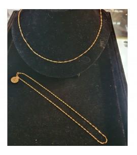 GJC010-22ct Gold Ripple chain