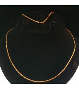 GJC012-22ct Gold Foxtail design chain