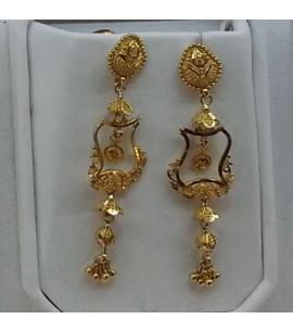 Fancy design long earrings