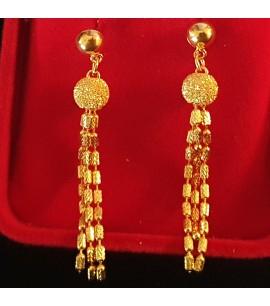 GJED021-Dangly 2-tone Earrings