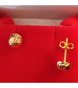 GJES025-22ct Gold Earring studs in dome style