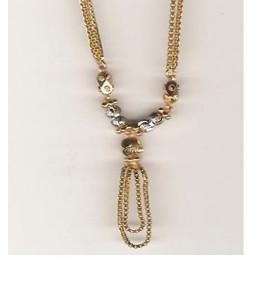 22ct Dual-Tone Bead Necklaces