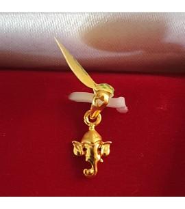 GJP029-22ct Gold Ganeshji Pendant