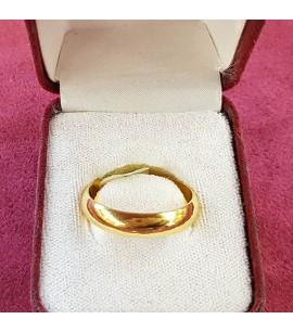 GJR025-22ct Gold half-round wedding Band