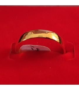 GJR035-22ct Gold Flat wedding Band