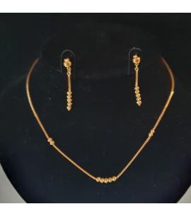 GJS026-22ct Gold Necklace set