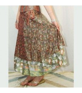 Thai silk wrap skirt