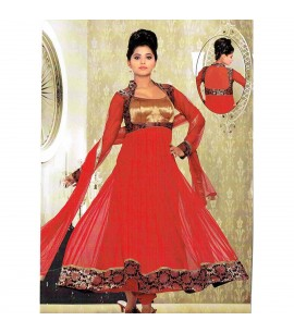 Red Flared Anarkali