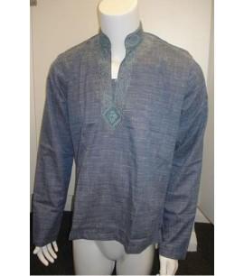 Mandarin collar formal shirt