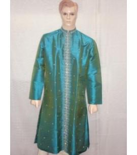 Turquoise Shimmer Sherwani