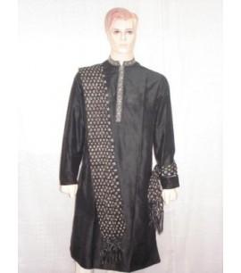 Simple Black Sherwani
