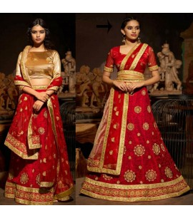 SB001-Wedding saree outfit with Double Blouse