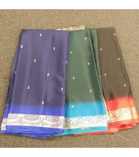 Polyester sarees with Pallu