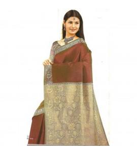 Brown 7016 Saree