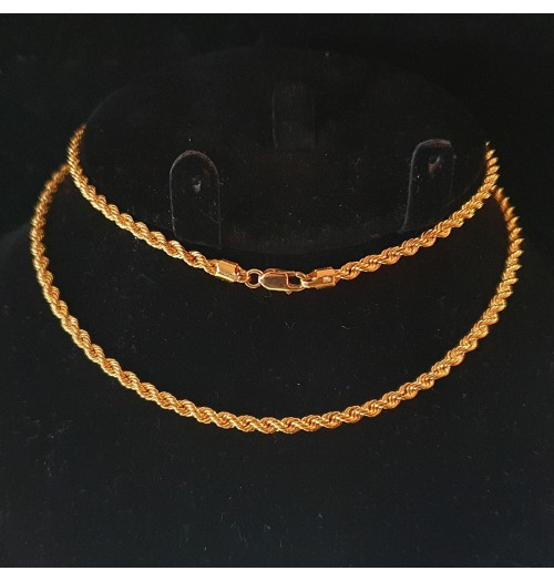GJC011-22ct Gold Rope chain